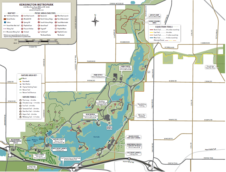Kensington Metropark Map ASI Port Locations and Maps | American Sailing Institute